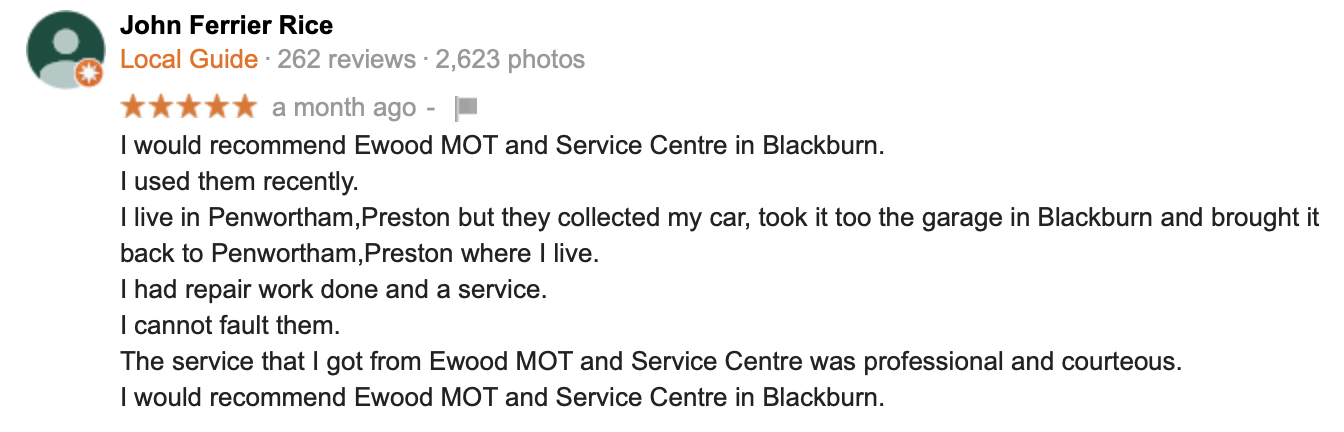 Yell.com Review Blackburn Car Centre